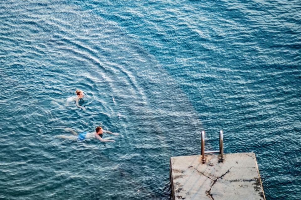Reiseziele in Slowenien: Frühschwimmer