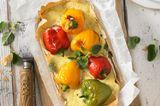 Paprika-Tarte mit Ziegenkäse