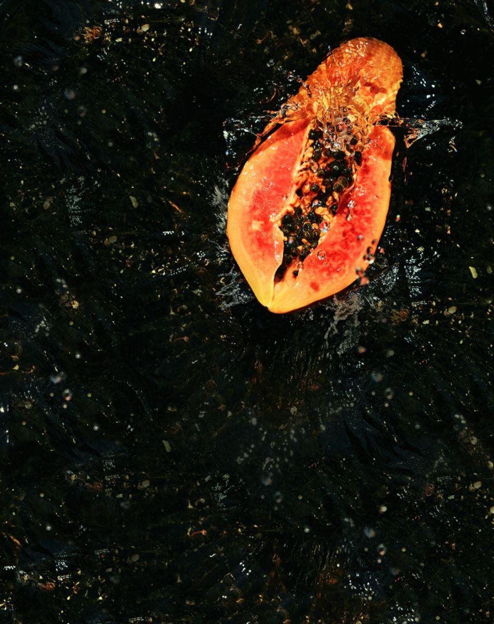 Fahler Teint: Papaya