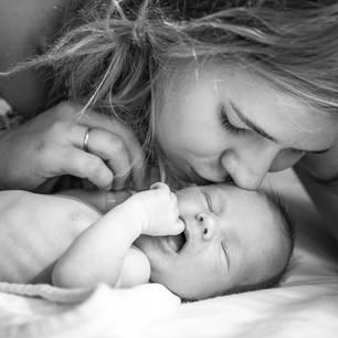 Corona aktuell: Mutter und Baby