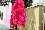 Sommermode 2020: Pinkes Midi-Kleid