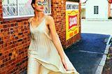 Sommermode 2020: Cremefarbenes Kleid