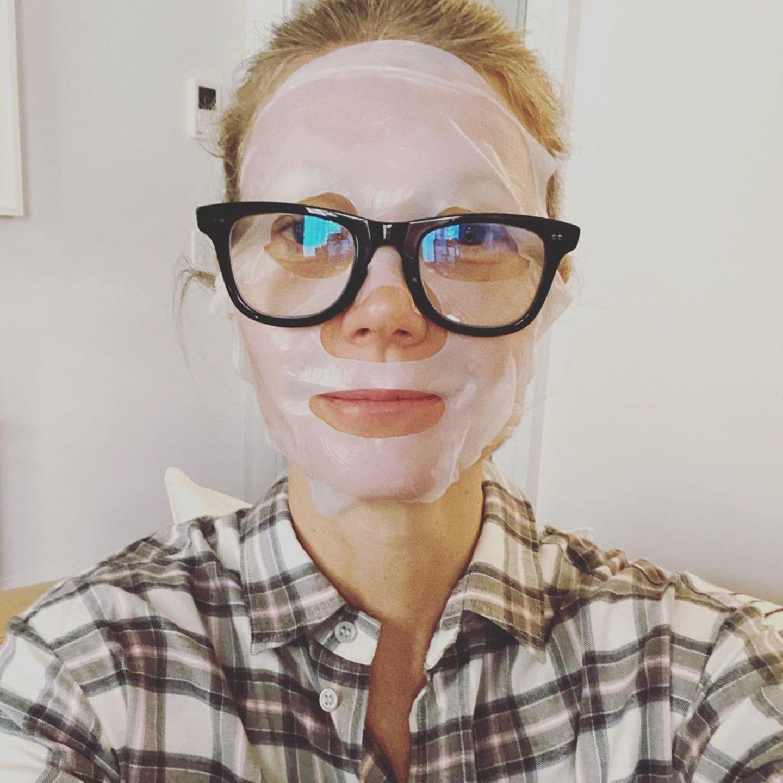 Stars im Home Office: Gwyneth Paltrow mit Schönheitsmaske