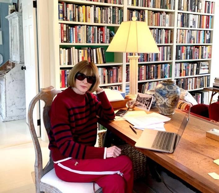 Stars im Home Office: Anna Wintour in Jogginghose