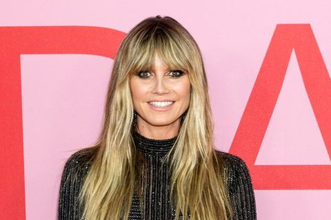 Curtain Bangs: Heidi Klum
