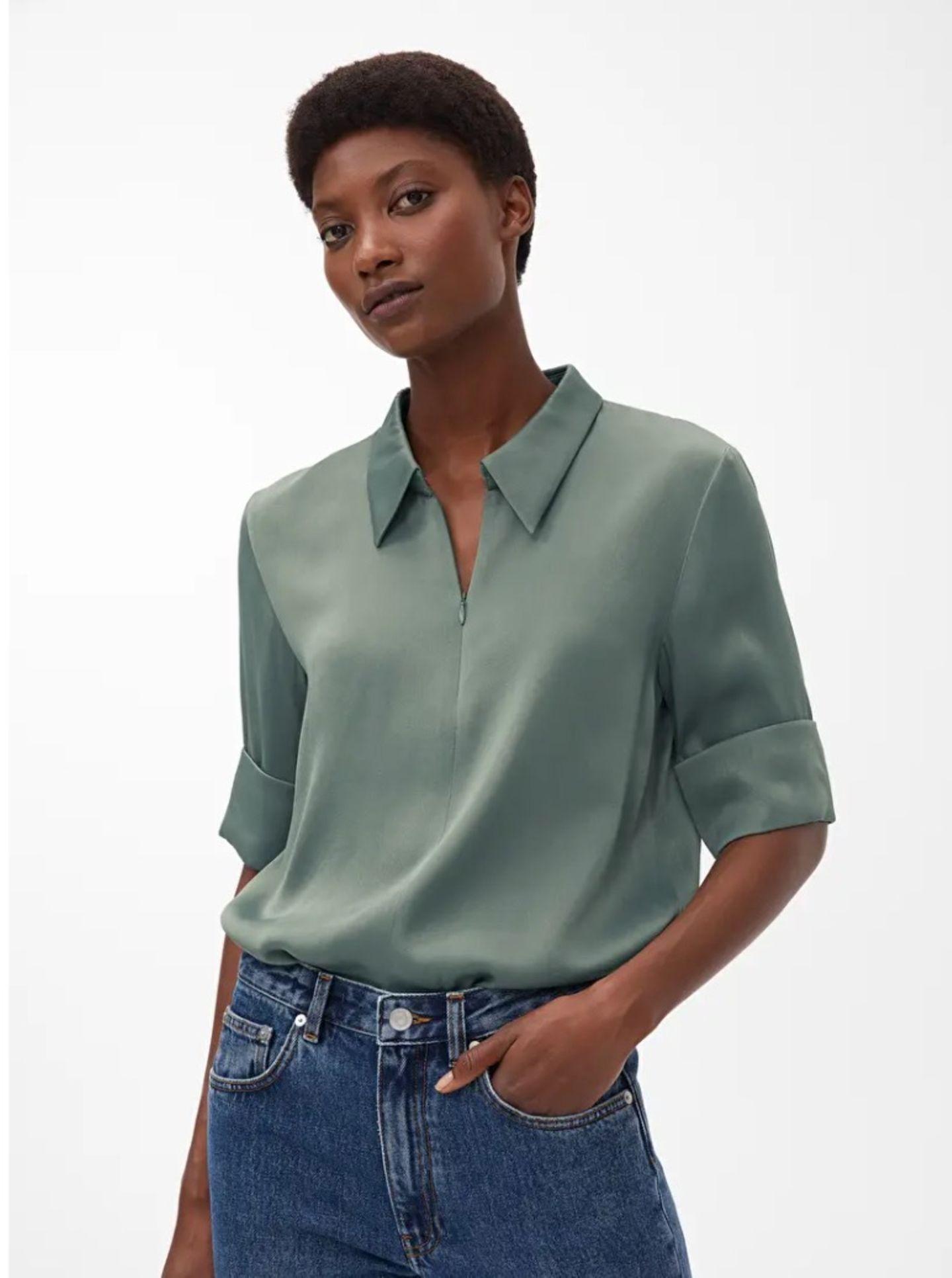 Frühlings-Bluse: T-Shirt Optik
