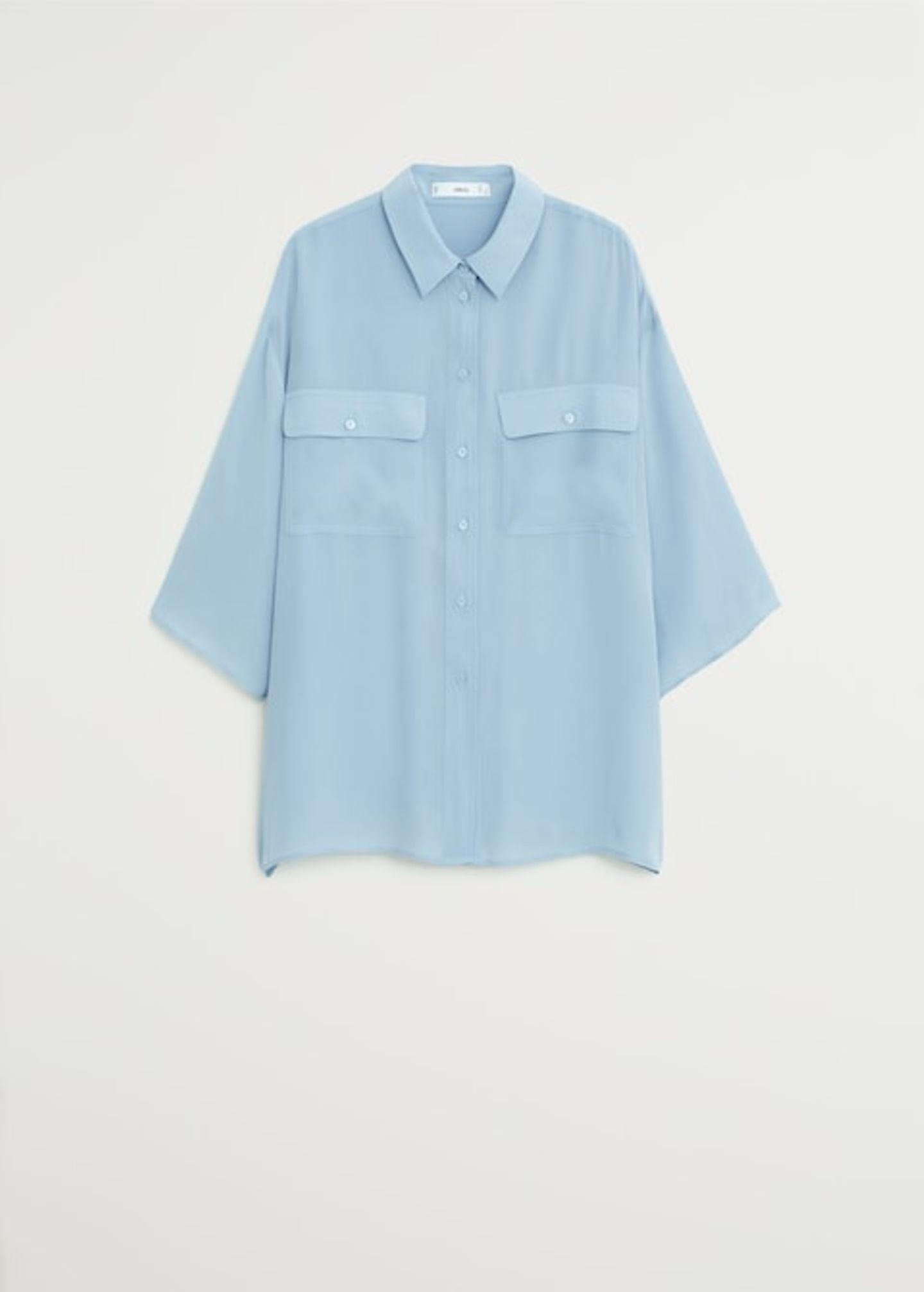 Frühlings-Bluse: Hellblau