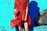 Bunte Mode: Hemdblusenkleid