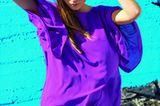 Bunte Mode: Lila Kleid