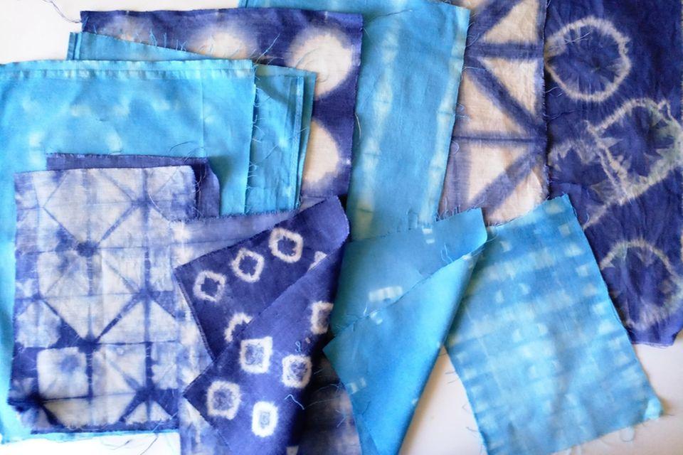 Shibori: Stofftücher mit Muster