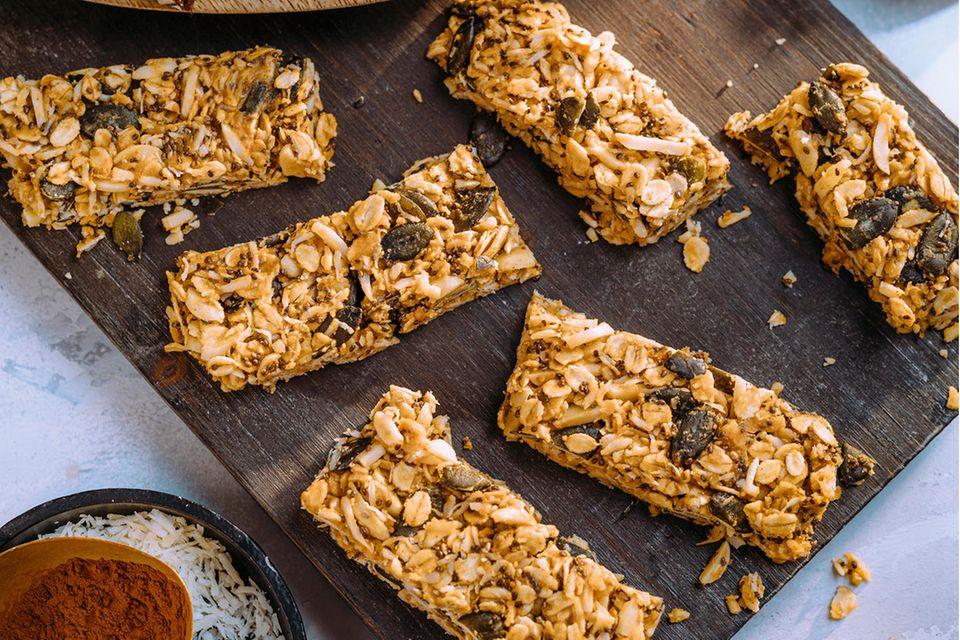 Crunchy Erdnuss-Bars