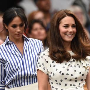 Kate und Meghan: Links Meghan, Rechts Kate