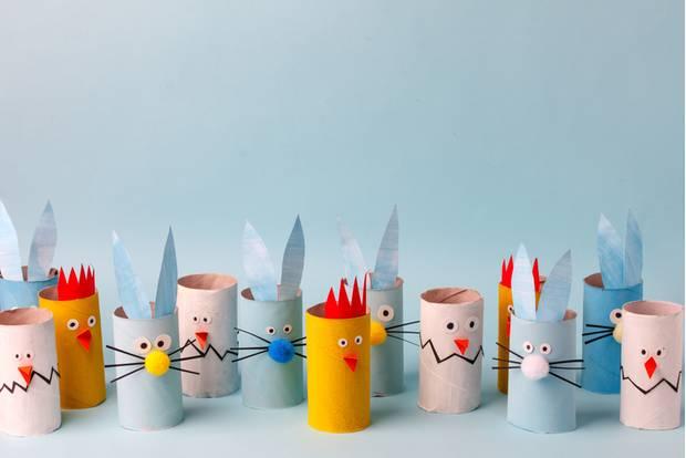Basteln mit Klorollen: Figuren aus Klorollen