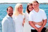 Royale Mütter: Prinzessin Mette Marit mit ihren Kindern
