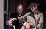 Royale Mütter: Fürstin Charlene von Monaco mit ihren Zwillingen