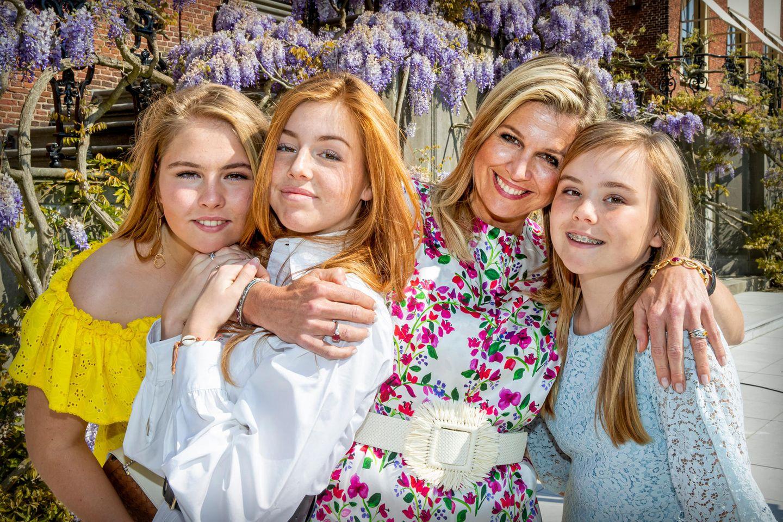Royale Mütter: Königin Máxima mit Töchtern