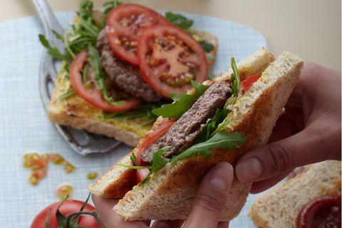 Burger-Salat-Sandwich