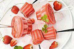 Erdbeer-Zitronen-Sorbet