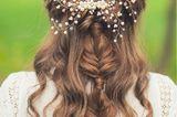Flechtfrisuren lange Haare: Flechtfrisur und offene Haare