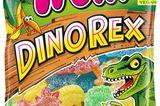 Vegane Süßigkeiten: Trolli Dino Rex