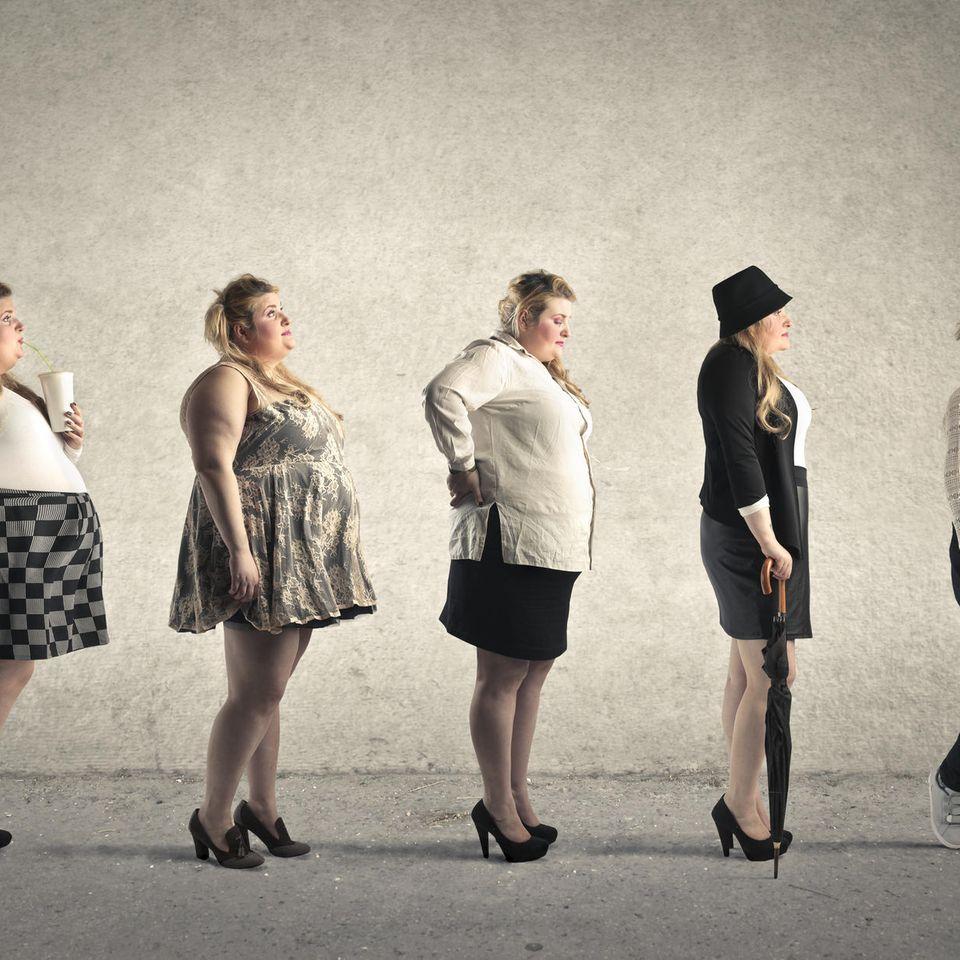 Durch dick und dünn: Transformationsschritte einer Frau