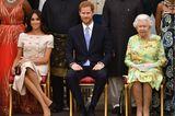 Queen Elizabeth II.: mit Herzogin Meghan und Prinz Harry