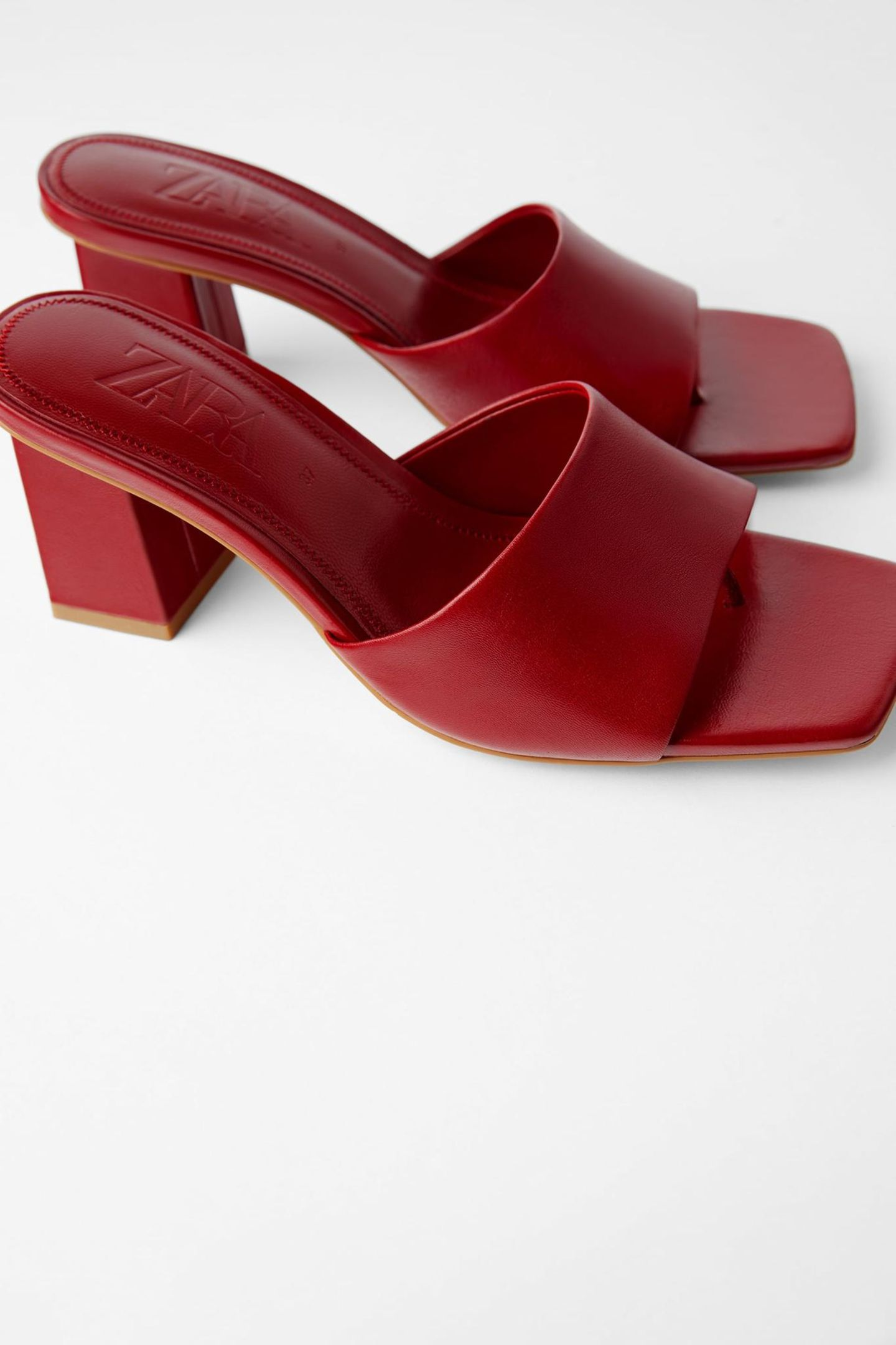 Sommersandalen: Rote Mules