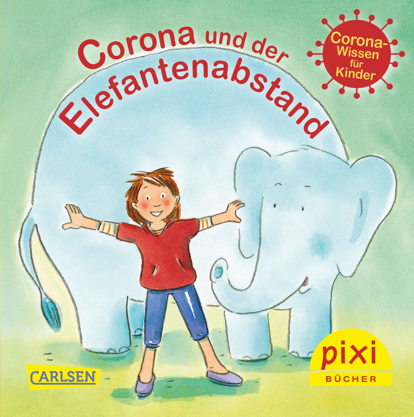 """Buchtipps der Redaktion: Buchcover """"Corona und der Elefantenabstand"""""""