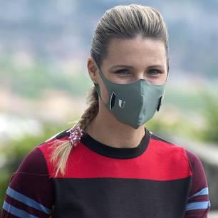 Promis mit Mundschutz: Michelle Hunziker mit Gesichtsmaske