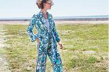Hosenanzüge: Blazer mit Bindegürtel und Hose aus recyceltem Polyester