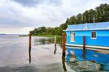 Urlaub in Deutschland: Hausboot am See