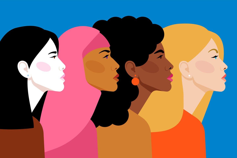 Rassismus: Grafik unterschiedlicher Frauen