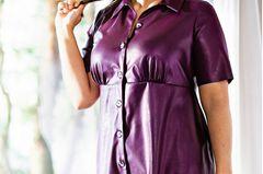 Sommerkleider: Minikleid in Lederoptik