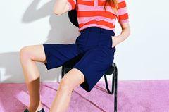 Kleidung kombinieren: Poloshirt und Bermudas