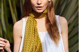 Sommertrend 2020: Gelber Schal gepunktet + Streifentop