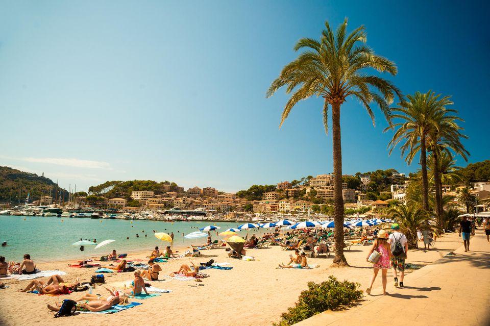 Coronakrise: Ein Strand auf Mallorca