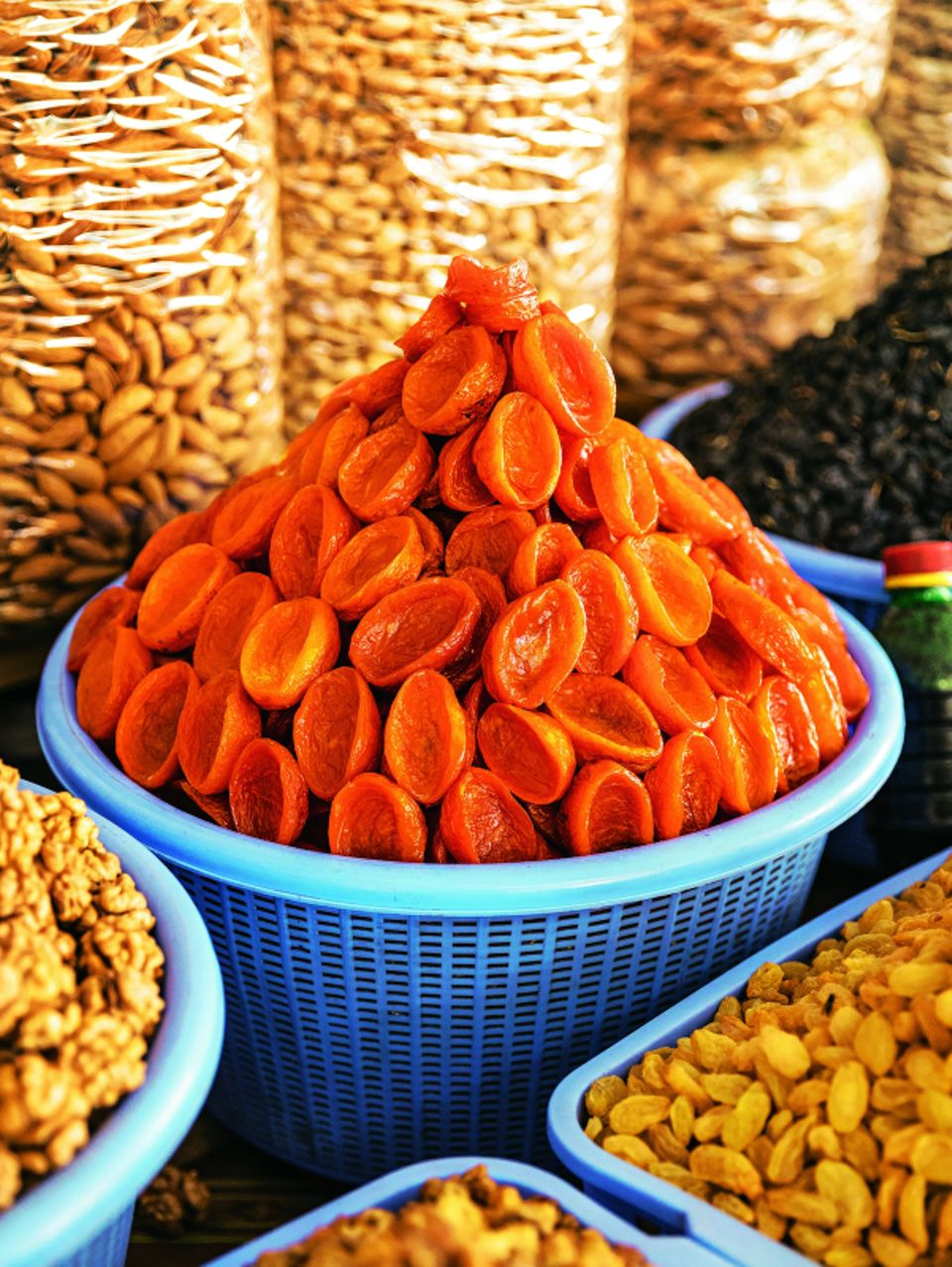 Aprikosen auf Markt