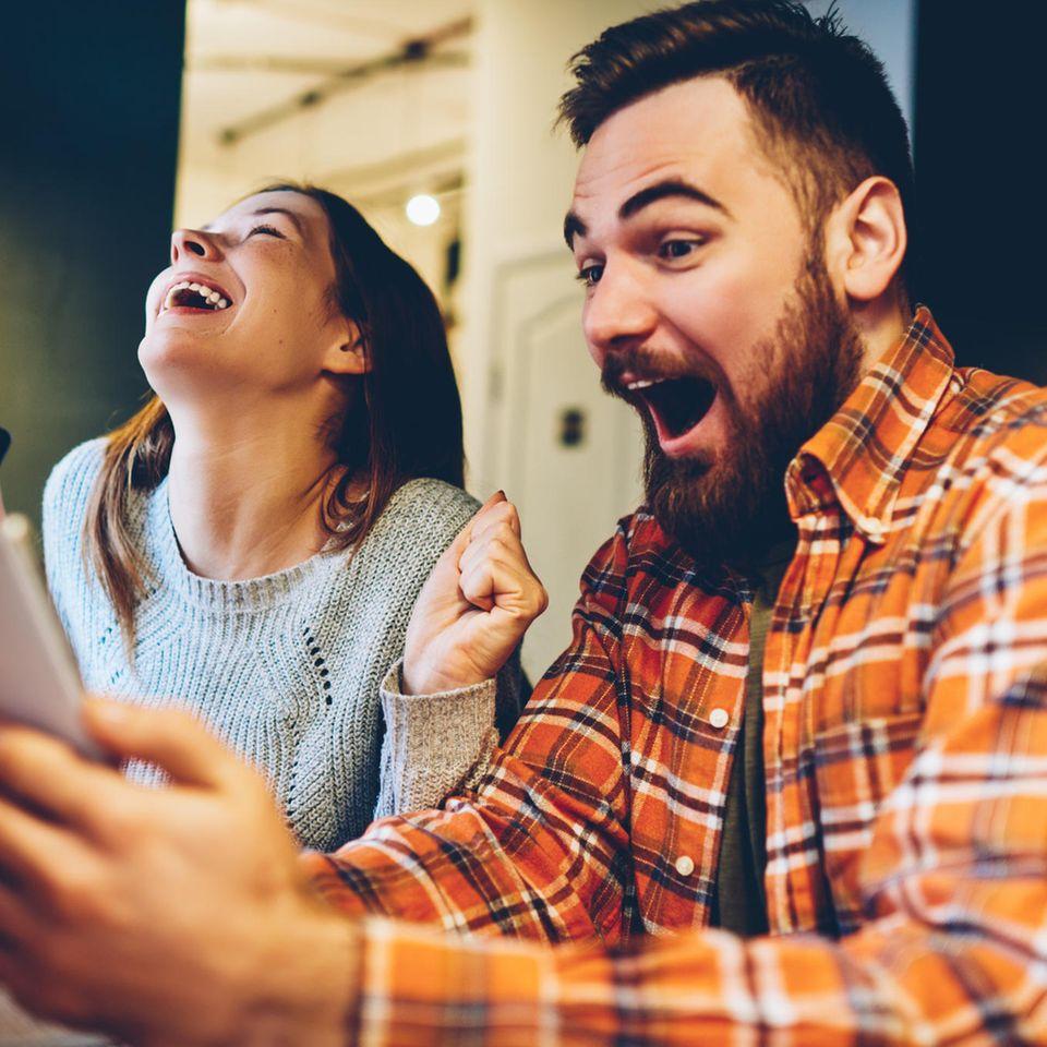 Mein lieber Scholli: Mann und Frau sind völlig aus dem Häuschen