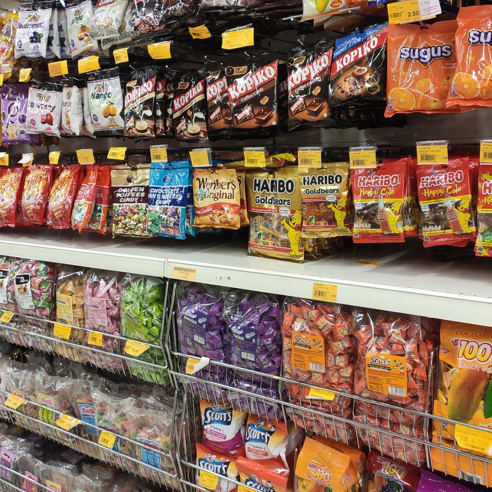 Rückruf: Süßigkeiten im Supermarkt