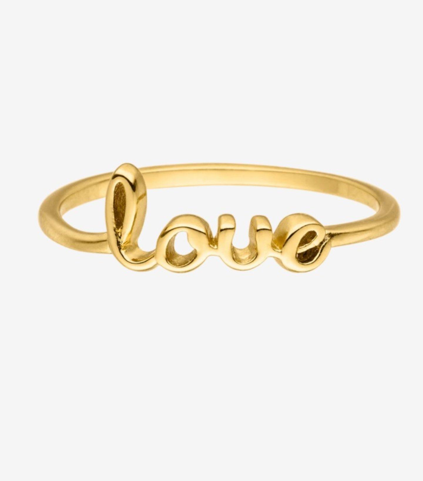 Erinnert ein bisschen an das ikonische Schmuckstück von Tiffany & Co.,ist aber viiiel günstiger. Ein romantisches Statement setzt ihr mit dieser vergoldeten Variantein jedem Fall. Von Faye für 35 Euro.