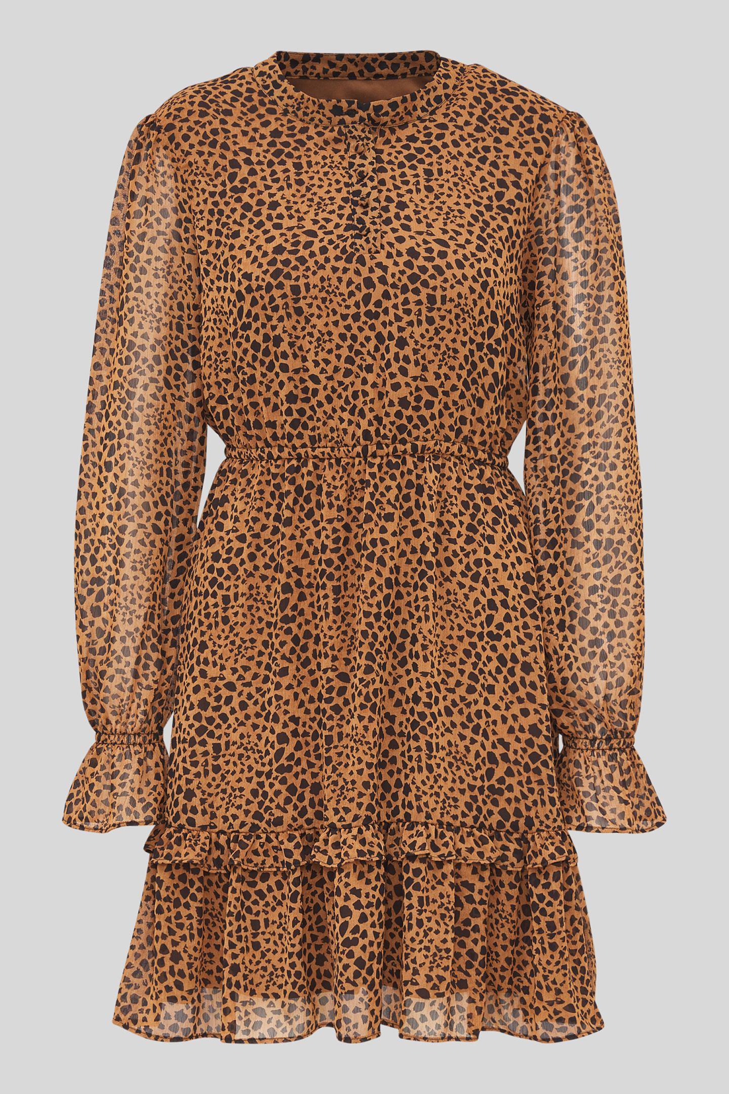 Richtig wild geht es in diesem Kleidchen zu – zumindest in Sachen Trendradar. Der coole Animalprint ist ein echter Allrounder und die weich fließende Qualität macht das Dress zu einem Lieblingsteil an kühleren Sommertagen. Von C&A, reduziert auf 20 Euro.
