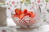 Granité mit Erdbeeren