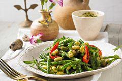 Grüne Bohnen Rezepte: Warmer Bohnensalat