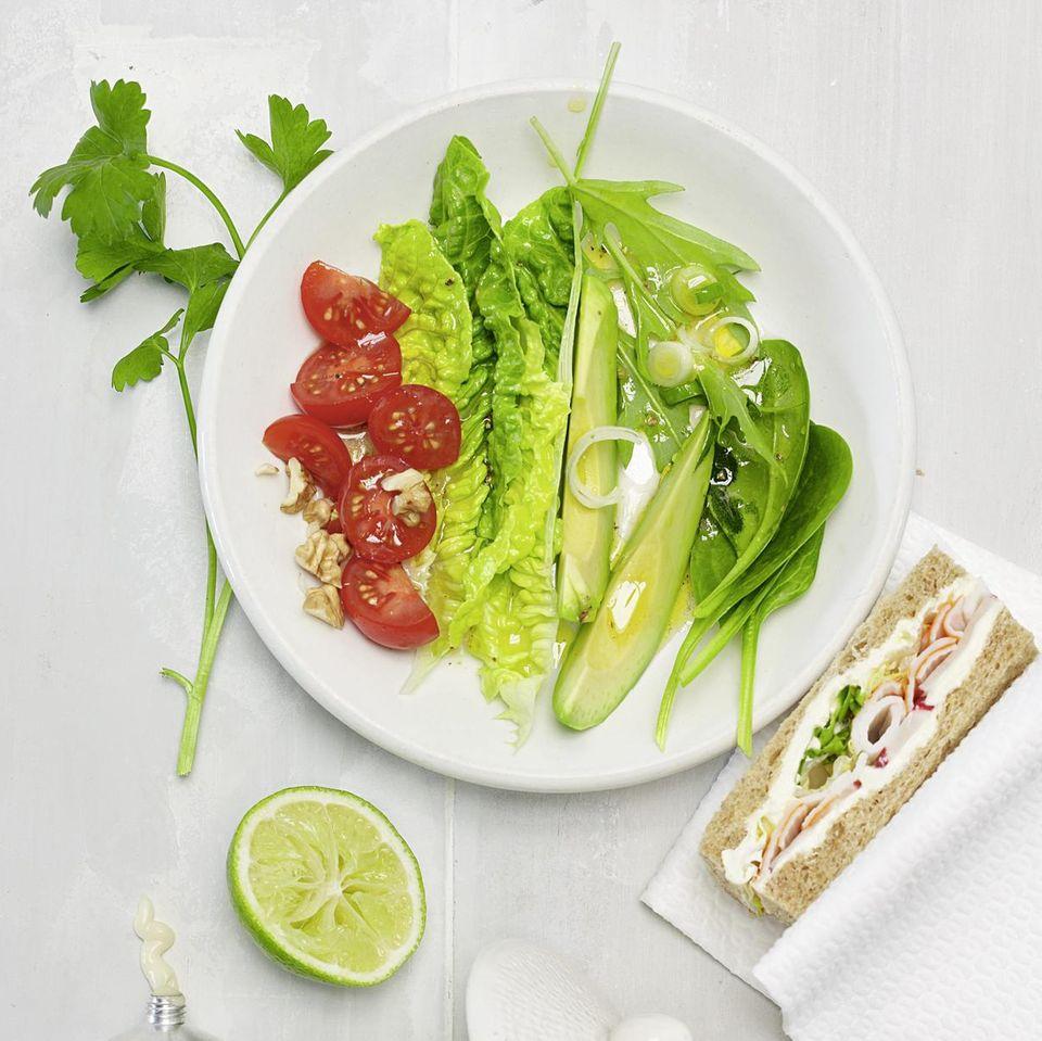 Avocadosalat mit Limettendressing