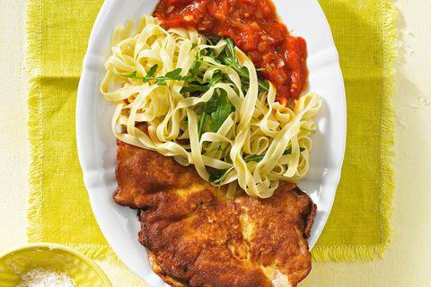 Hähnchen-Piccata mit Tomatensoße