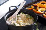 Reistopf mit Kürbis