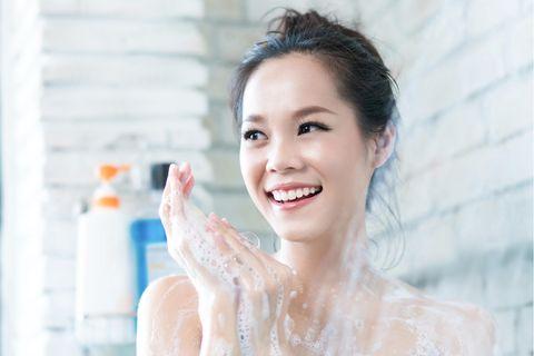 Glass Skin, Porzellanhaut, porenreine Haut, asiatische, junge Frau