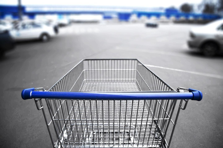 Real: Leerer Einkaufswagen