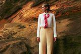 Volant-Mode: Hemdbluse zu Hose