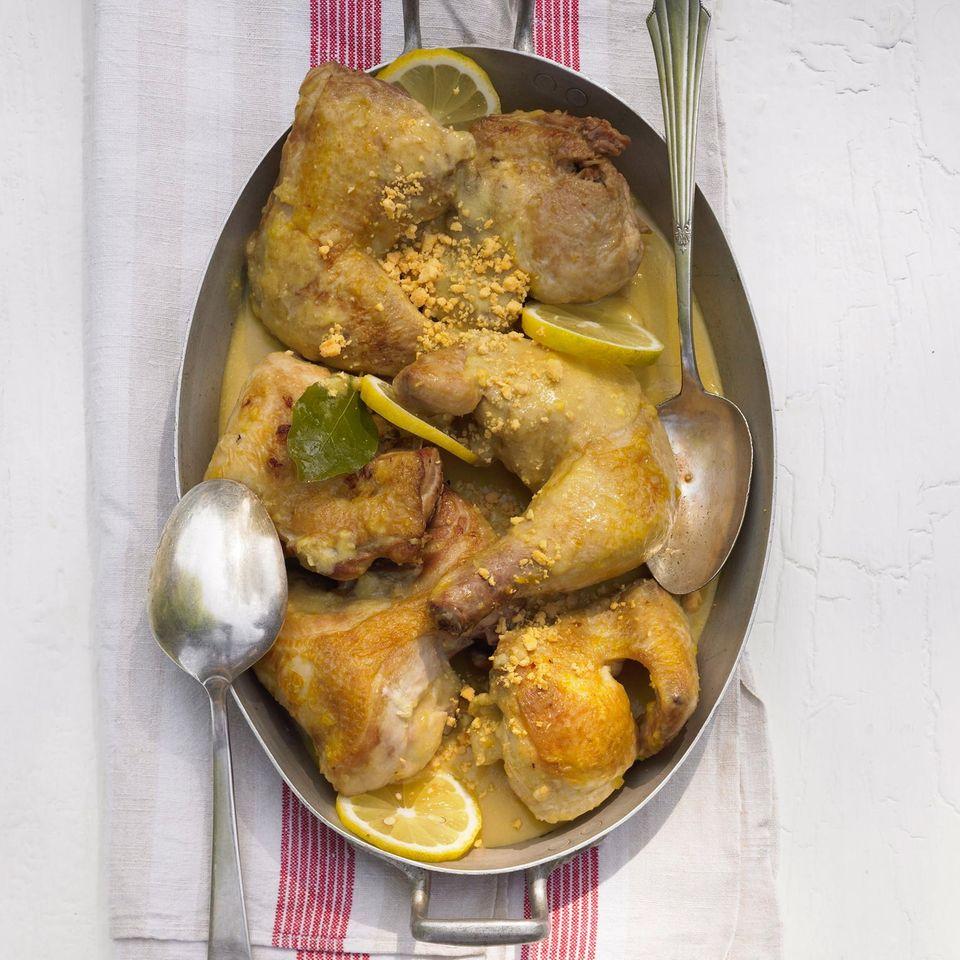 Huhn mit Mandelsoße